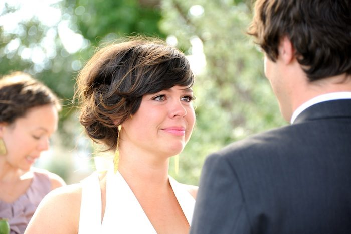 Bride tears up as she looks into her groom beautiful-longmont-farm-wedding-hot-summers-day-kiefel-photography
