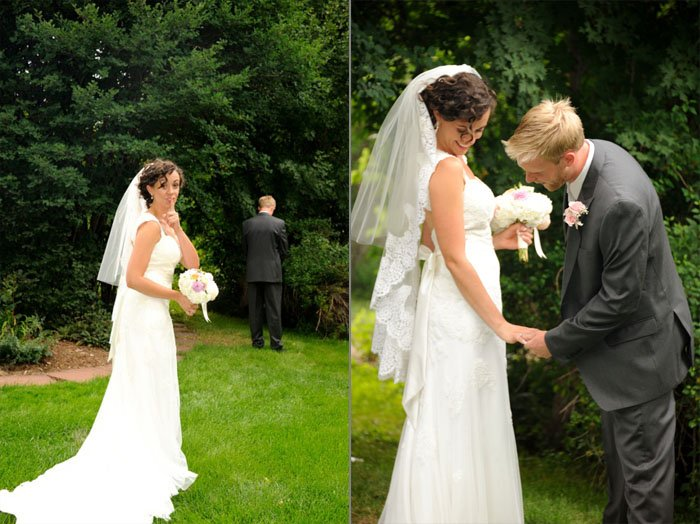 First glance series -- first time that groom sees bride in her wedding dress before the wedding.