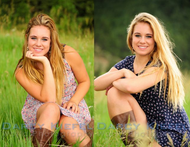 Posing for high school senior portraits in Boulder, Colorado check-holy-family-high-schools-maddie