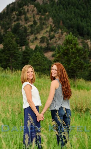 A mother and daughter portrait in Colorado beautiful-family