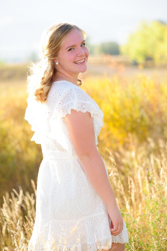 Prospect Ridge Senior Portraits in Fall Golden Light